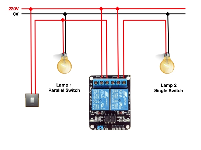 home wiring relay home automation with raspberry pi and relay module ... home wiring white color #10